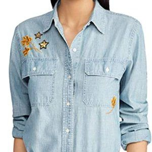 NWT! Lauren Women's Chambray Denim Shirt